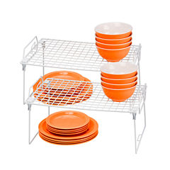 Honey-Can-Do® Set of 2 Lock and Link Stackable Organizer Racks