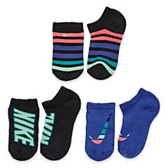 Nike Girls 3 Pair No Show Socks-Big Kid