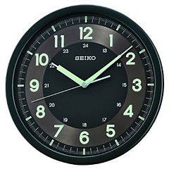 Seiko® Wall Clock With Quiet Sweet Second Hand Black Qxa628krh