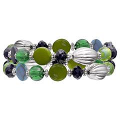 Mixit Clr 0717 Bluegreen Womens Stretch Bracelet