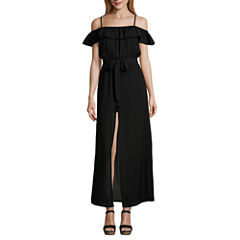 Love Reigns Off The Shoulder Maxi Dress-Juniors