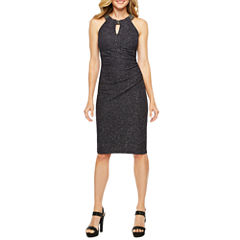 DJ Jaz Sleeveless Beaded Sheath Dress