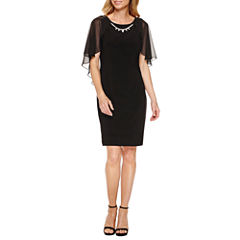 Ronni Nicole Elbow Sleeve Sheath Dress