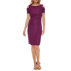 J Taylor Cold Shoulder Sheath Dress