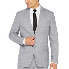 JF Black White Glen Plaid Jacket-Slim