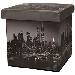 Oriental Furniture Brooklyn Bridge Footstool