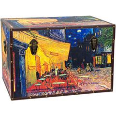 Oriental Furniture Van Gogh's Cafe Terrace StorageTrunk