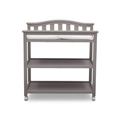 Delta Children Bell Top 2-Drawer 2-Shelf Changing Table - Painted
