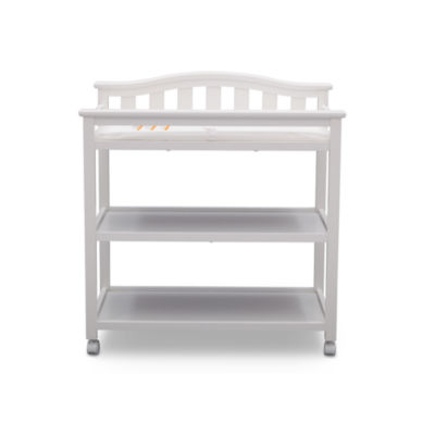 Delta Children Bell Top 2 Drawer 2 Shelf Changing Table   Painted