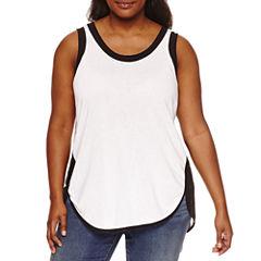 Boutique + Knit Colorblock Tank Top-Plus