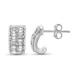 1/4 CT. T.W. Diamond 10K White Gold Earrings