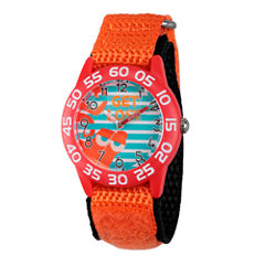 Disney Collection Boys Orange & Red Numbered Bezel Finding Dory Fast Strap Watch