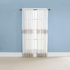 Renaissance Home Fashion Lillian Rod-Pocket Curtain Panel