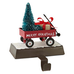 North Pole Trading Co. Winter Lodge Metal Wagon Stocking Holder