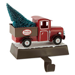 North Pole Trading Co. Winter Lodge Tree Farm Truck Stocking Holder