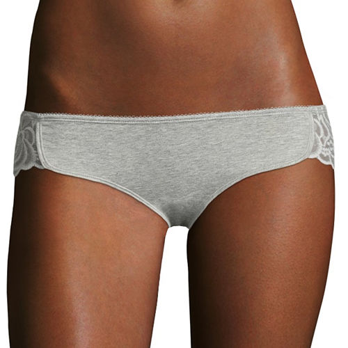 Flirtitude® Lace-Trim Dolphin Bikini Panties
