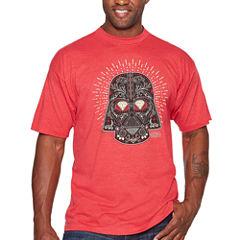 Starwars Vader Sugar Short Sleeve Graphic T-Shirt-Big and Tall