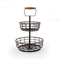 Gourmet Basics by Mikasa® Wire 2-Tier Basket