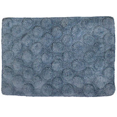 Homewear Linens Sculpted Dots Bath Rug