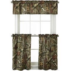 Mossy Oak® Break Up Infinity Rod-Pocket Camo Kitchen Curtains