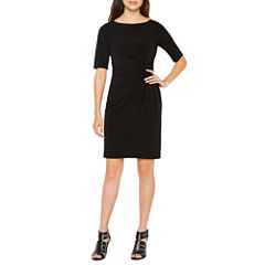 London Times Short Sleeve Sheath Dress