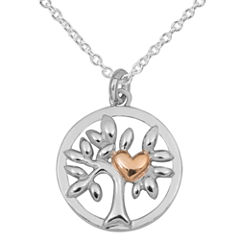 Hallmark Hallmark Silver Womens Sterling Silver Pendant Necklace
