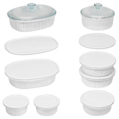 CorningWare® French White® 18-pc. Bakeware Set