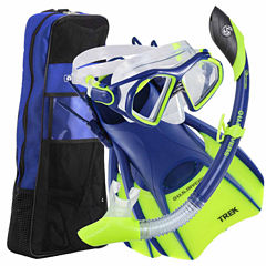 Us Driver Admiral Island Trekbag  Blu Sm Snorkel Set