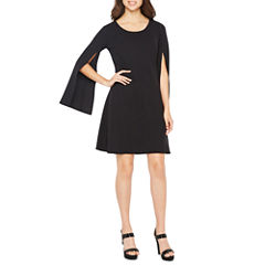 Worthington Long Sleeve Shift Dress