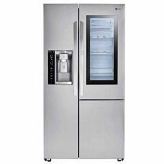 LG ENERGY STAR® 26.1 cu.ft. Side-By-Side Refrigerator with InstaView™ Door-in-Door®