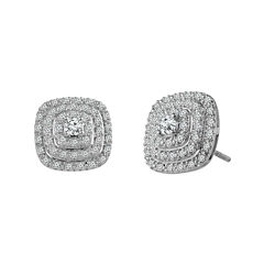 LIMITED QUANTITIES 1/2 CT. T.W. Diamond 10K White Gold Stud Earrings