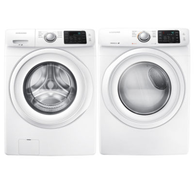 Samsung Front Load 2 Pc. Electric Washer And Dryer Set  White