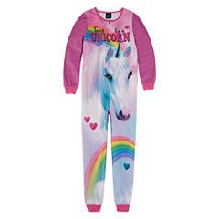 Jelli Fish Kids Long Sleeve One Piece Pajama-Big Kid Girls