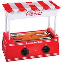 Nostalgia HDR565COKE Coca-Cola Hot Dog Roller withBun Warmer