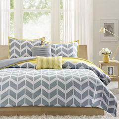 Intelligent Design Elle Chevron Comforter Set