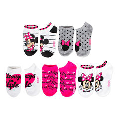 Girls 5 Pair Minnie Mouse No Show Socks