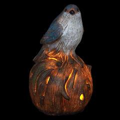 Solar Bird On Stump
