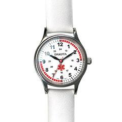 Dakota White Leather Nurse Watch