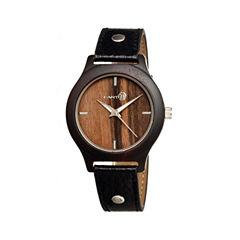 Earth Wood Tannins Dark Brown Leather-Band Watch Ethew1302