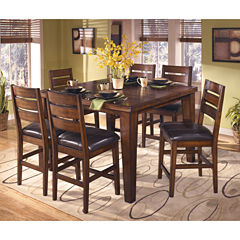 Signature Design By AshleyR Larchmont Counter Height Dining Table With Leaf