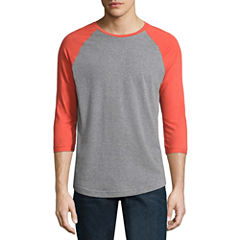 City Streets 3/4 Sleeve Crew Neck T-Shirt
