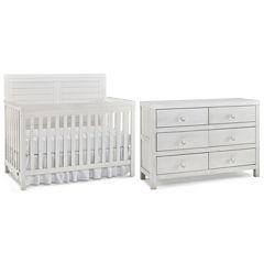 Tiamo Castello 2-PC Baby Furniture Set- Seashell