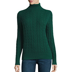 St. John's Bay Long Sleeve Turtleneck Pullover Sweater