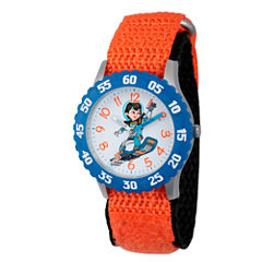 Disney Boys Orange and Blue Miles From Tomorrowland Time Teacher Strap Watch W003054