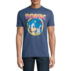 Sonic In Circle Short-Sleeve Graphic T-Shirt