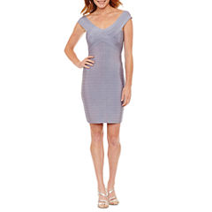La Cite Short Sleeve Bodycon Dress