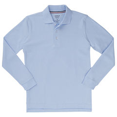 French Toast Long Sleeve Pique Polo - Boys 2T-4