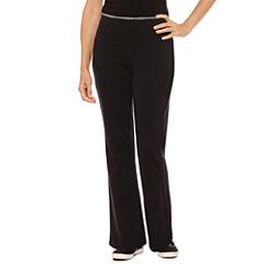 Silverwear Knit Stripe Workout Pants - Petites