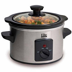 Elite Gourmet MST-250XS 1.5-Quart Mini Slow Cooker, Stainless Steel