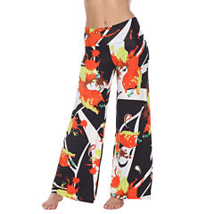 White Mark World Of Color Abstract Palazzo Pants